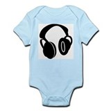 DJ Headphones Infant Bodysuit