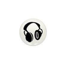 DJ Headphones Mini Button (100 pack)