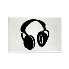 DJ Headphones Rectangle Magnet (10 pack)