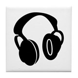 DJ Headphones Tile Coaster