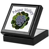 Napa Valley Grapes - Tile Gift Box