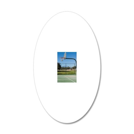 Playground Basketball Court 20x12 Oval Wall Decal