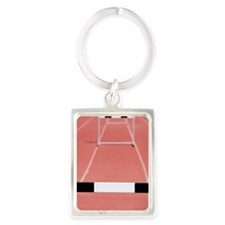 Hurdles on a track Portrait Keychain
