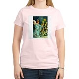 Angel Lighting Candles on Christmas Tree T-Shirt