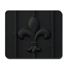 Close-up of fleur-de-lis symbol Mousepad