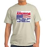 Will Not Press 1 Ash Grey T-Shirt