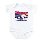 Will Not Press 1 Infant Bodysuit