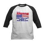 Will Not Press 1 Kids Baseball Jersey