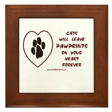 CATS LEAVE PAWPRINTS Framed Tile