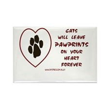 CATS LEAVE PAWPRINTS Rectangle Magnet