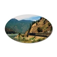 Train passing through mounta Wall Decal