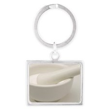 Mortar and pestle Landscape Keychain