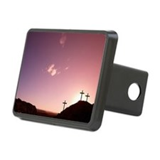 Three crosses on hill Hitch Cover