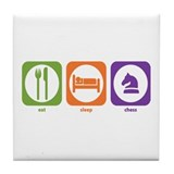 Eat Sleep Chess Tile Coaster
