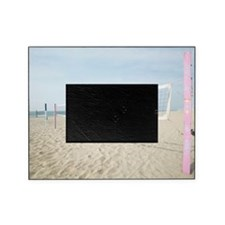Volleyball net at the beach Picture Frame