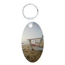 Adirondack chair by ocean Keychains