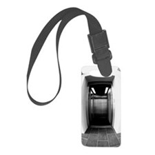 Entrance to an elevator (black a Luggage Tag