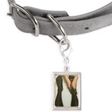 Aesthetician Who Rubs Mud P Small Portrait Pet Tag