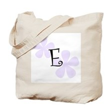 Lilac Flowers Monogram E Tote Bag