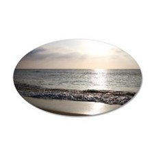 Sunlight on ocean beach Wall Decal