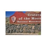 """Sign for Craters of the Moon Nat Rectangle Magnet"