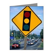 Traffic signal sign Note Cards (Pk of 20)