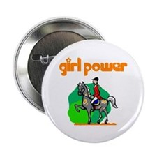 Girl Power Equestrian Button