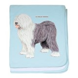 Old English Sheepdog Dog baby blanket