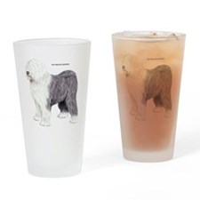 Old English Sheepdog Dog Drinking Glass