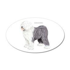 Old English Sheepdog Dog 35x21 Oval Wall Decal