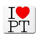 I Heart PT - Mousepad