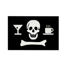 Beverage Jolly Roger Rectangle Magnet