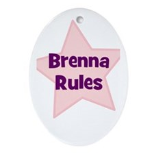 Brenna Rules Oval Ornament