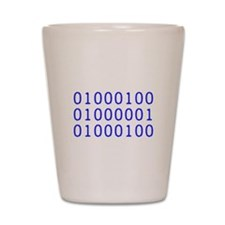 DAD in Binary Code Shot Glass