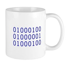 DAD in Binary Code Mug