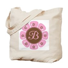 Pink and Brown Monogram B Tote Bag