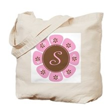 Pink and Brown Monogram S Tote Bag