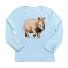 Rhino Rhinoceros Animal Long Sleeve Infant T-Shirt