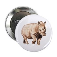 "Rhino Rhinoceros Animal 2.25"" Button (100 pack)"