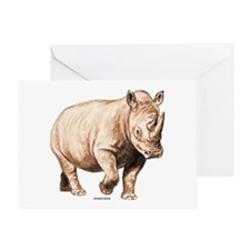 Rhino Rhinoceros Animal Greeting Card