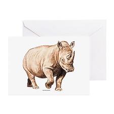 Rhino Rhinoceros Animal Greeting Cards (Pk of 20)