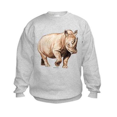 Rhino Rhinoceros Animal Kids Sweatshirt