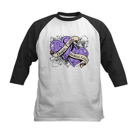 General Cancer Hope Dual Heart Kids Baseball Jerse