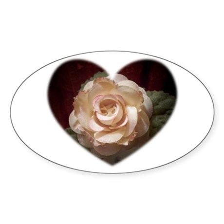 Peace Rose Oval Sticker
