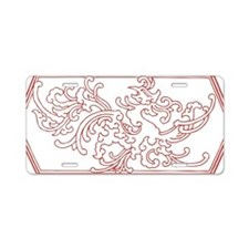 Mystical bird pattern Aluminum License Plate