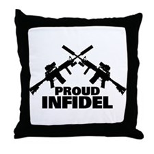 Proud Infidel Throw Pillow