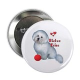 Bichon with Ball Button