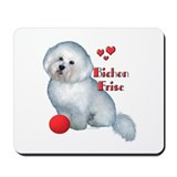 Bichon with Ball Mousepad