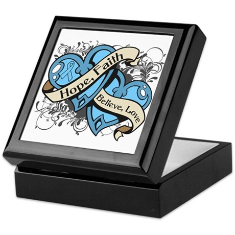 Graves Disease Hope Dual Heart Keepsake Box