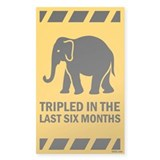 Tripled in the Last Six Months Sticker (Rectangula